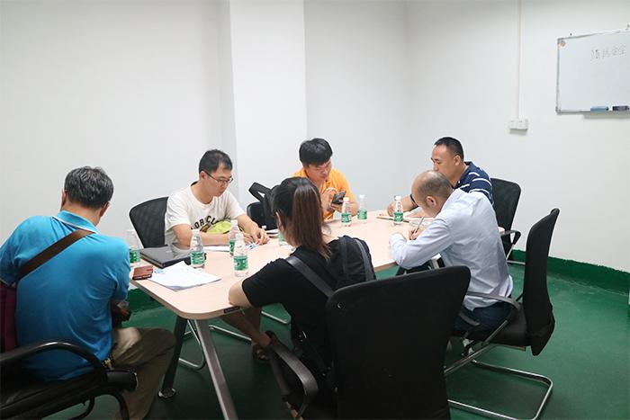 广石化工程项目技术人员来厂测验
