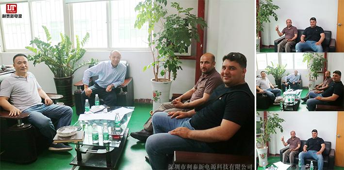 阿富汗客户到我司巡厂,对无触点稳压器产品的合作
